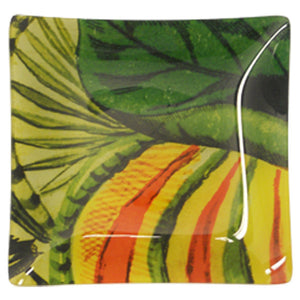 Tres Picos Glass Plate 8 inches square