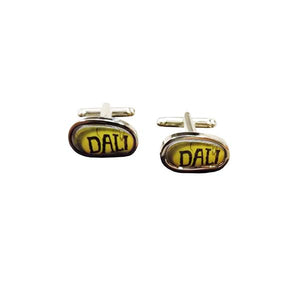 Cufflinks: 'DALI' detail from Surrealist Poster