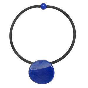 Murano Glass Disco Necklace in blue