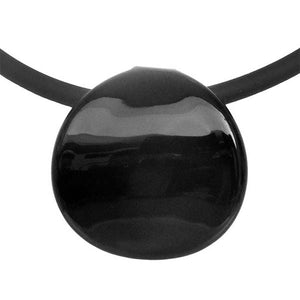 Murano Glass Disco Necklace in black