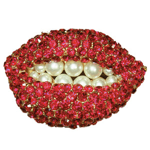 Ruby Lips Pin