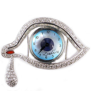 Eye of Time Brooch in Sterling Silver