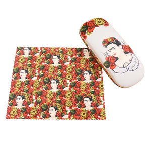 Frida Kahlo Eyeglass Case with Cleaning Cloth