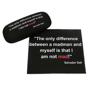Eye Glass Case with Cloth - 'I am not MAD..' Quote