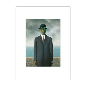 Magritte's 'Son of Man' 11x14 Matted Print