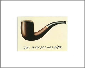 Magritte's 'Pipe' 10x8 Matted Print