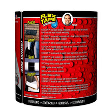 Flex Tape Rubberized Waterproof Tape, 4 Inch x 5 Feet, Black