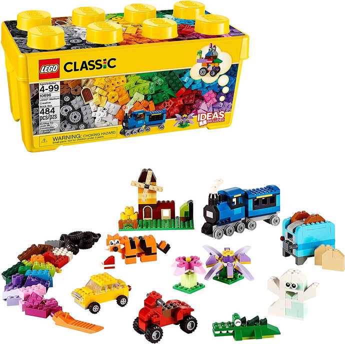 LEGO Classic Medium Creative Brick Box 10696 Building Toys for Creative Play; Kids Creative Kit (484 Pieces)