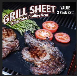 Amazing EZ Grill Sheet - Keep Your Grilling Neat! (3 Pack Value Set)