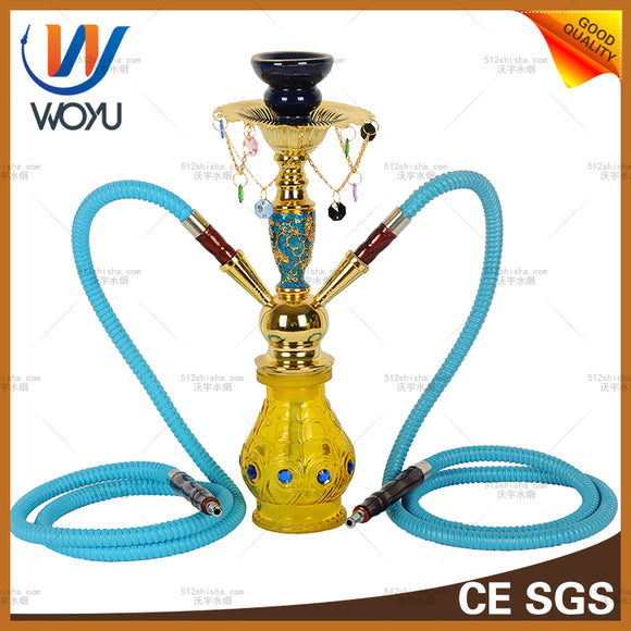 Shisha glass water pipe hookah double hitter