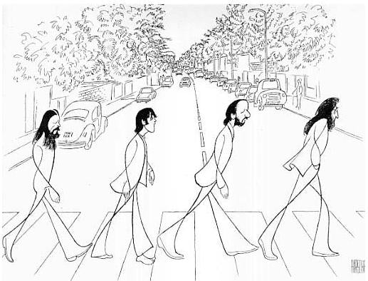 Abbey Road by Al Hirschfeld