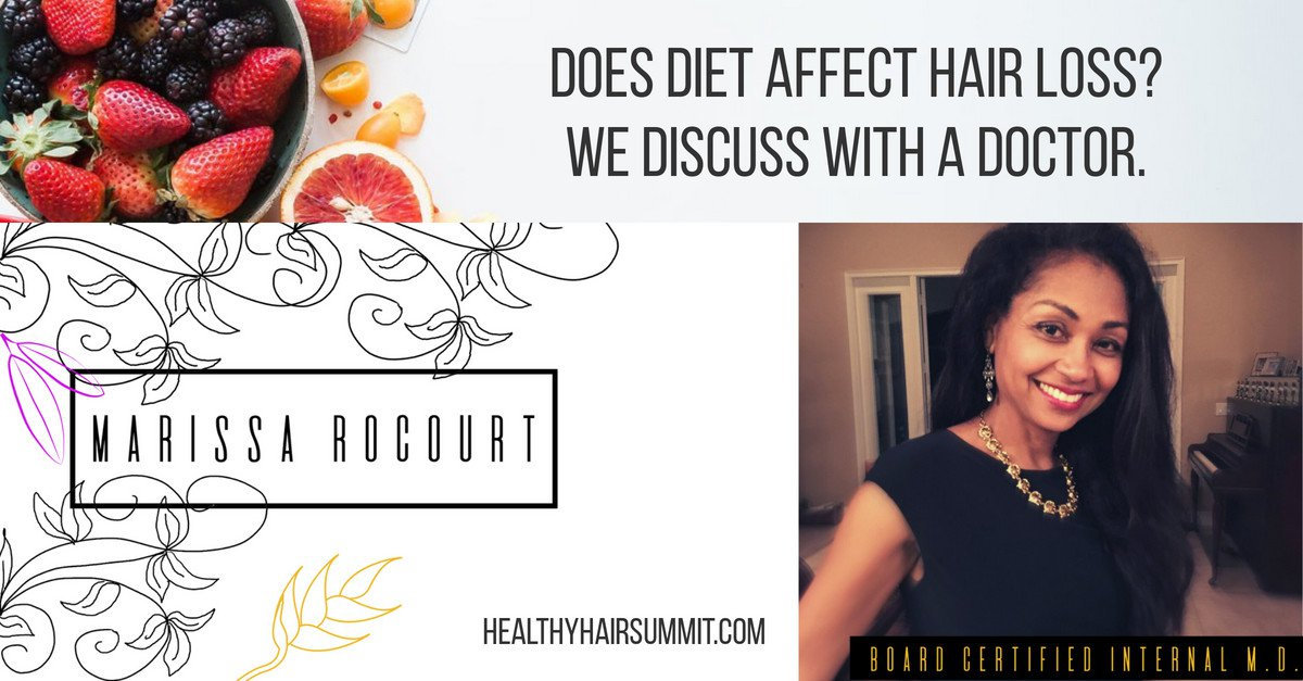 Does diet affect hair loss? We discuss with a doctor.
