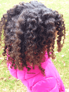 Braid Out on your Curly Cutie