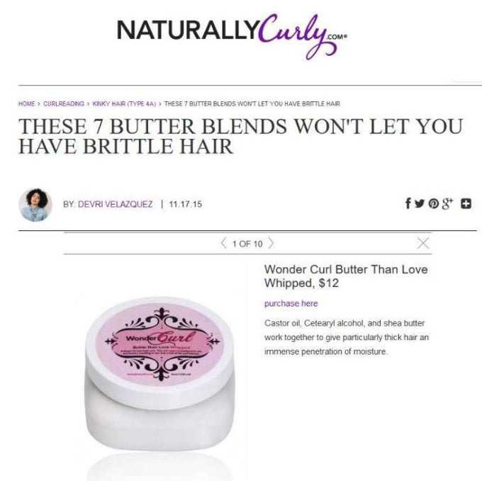 NaturallyCurly.com lists Butter than Love Whipped