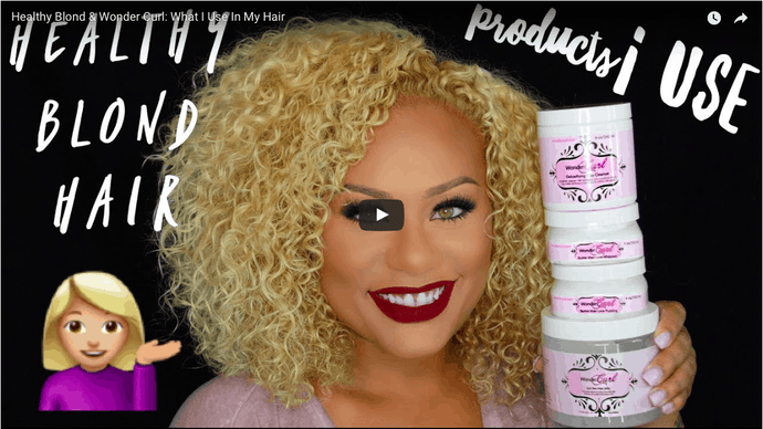 Beatfacehoney's Tatiana Ward reviews Wonder Curl natural hair products on her blond, curly hair.