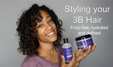 Styling type 3B hair to keep it hydrated and defined without the frizz.