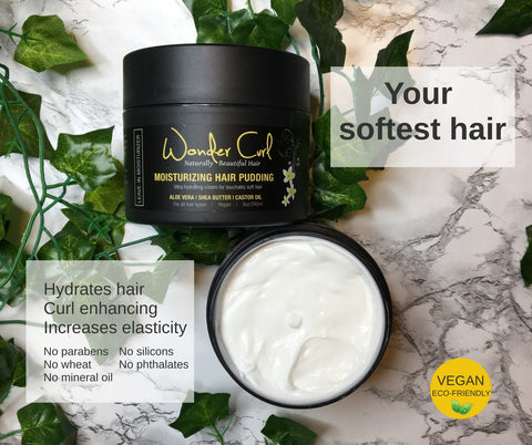 Moisturizing Hair Pudding for soft curls