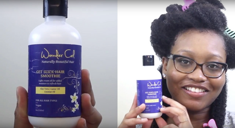 Get Slick Hair Smoothie to hydrate natural curly hair