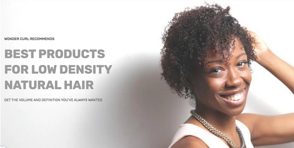 Curly hair products for low density hair