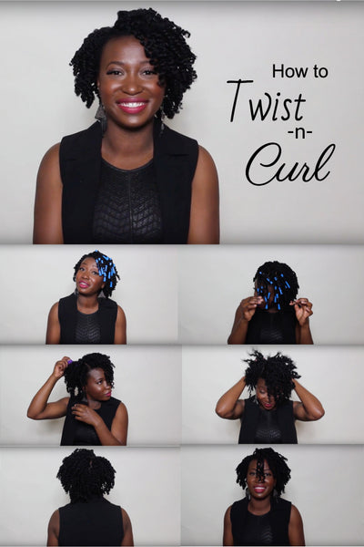 Twistncurl tutorial using Wonder Curl on type 4c hair