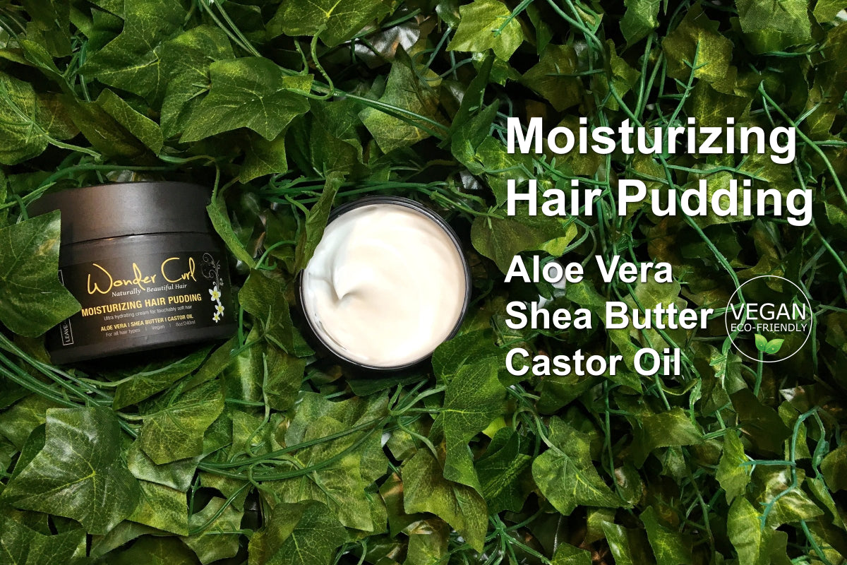 aloe vera shea butter castor oil for moisturized hair