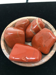 Red Jasper Tumbled Stones (5) five