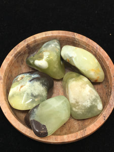 Prehnite Tumbled Stones (5) five