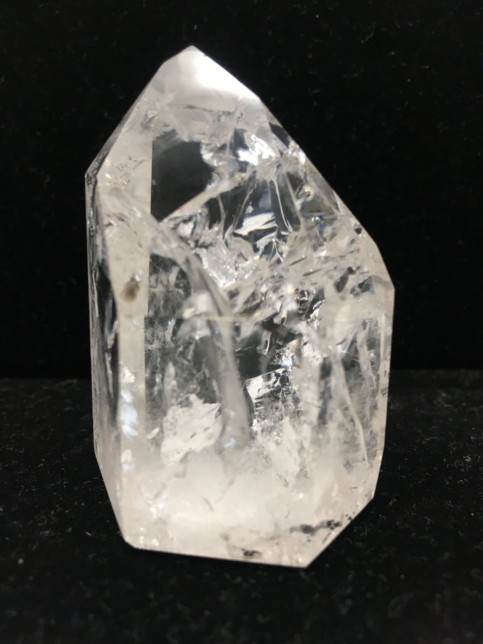 Clear Crystal Single-Terminated Point - Channeling - Isis - Window - Rainbows - CCSTP21