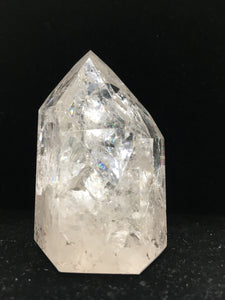 Clear Crystal Single-Terminated Point - Channeling - Rainbows - CCSTP23