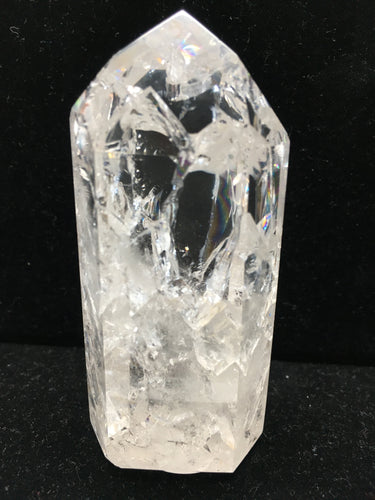 Clear Crystal Single-Terminated Point - Channeling - Rainbows - CCSTP24
