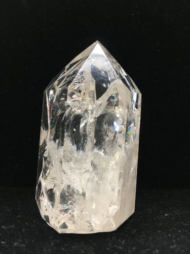 Clear Crystal Single-Terminated Point - Channeling - Rainbows - CCSTP26
