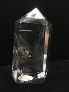 Clear Crystal Single-Terminated Point - Window - Rainbow - Premium - CCSTP35
