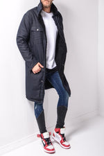 LONG FIELD JACKET - NAVY