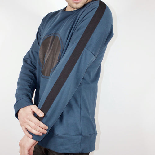LONG SLEEVE TOP - STEEL BLUE