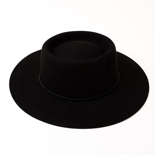 WIDE BRIM EDIE - BLACK