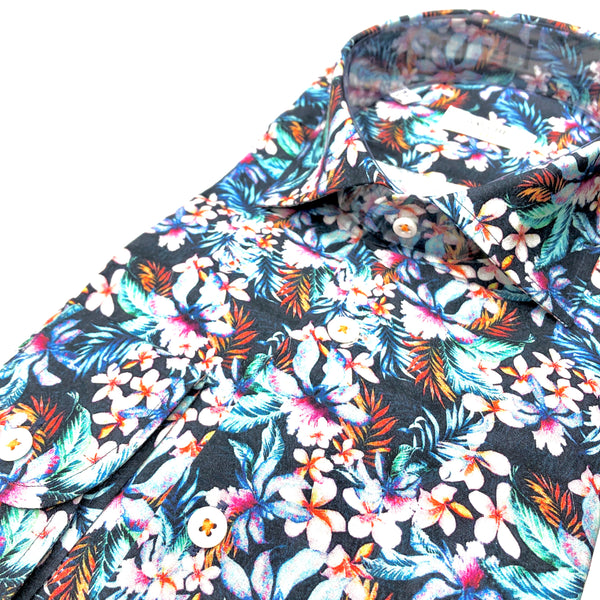 DRESS SHIRT - FLORAL NAVY