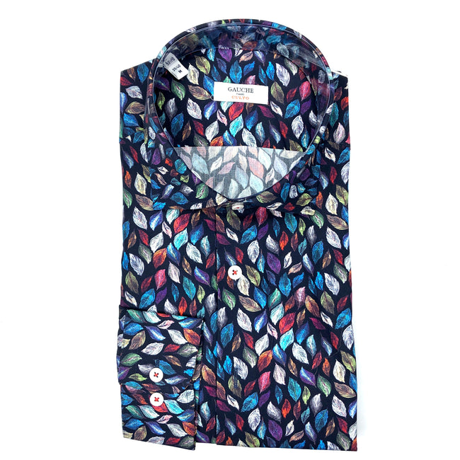 DRESS SHIRT - LEAVES