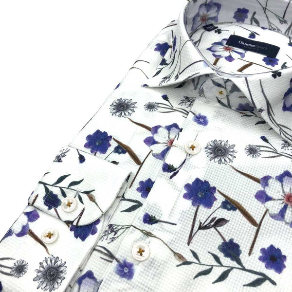 DRESS SHIRT - PURPLE FLORAL
