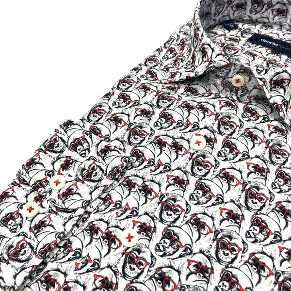 DRESS SHIRT - MONKEYS