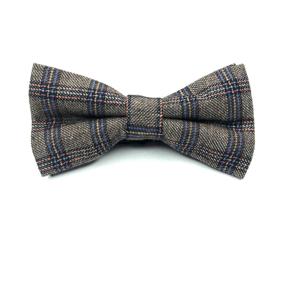 BOW TIES - GREY PLAID