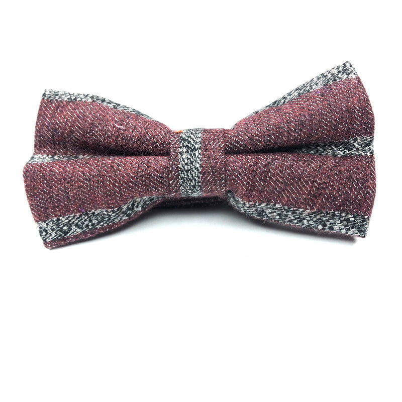 BOW TIES - RED & GREY