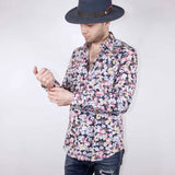 DRESS SHIRT - FLORAL BLACK