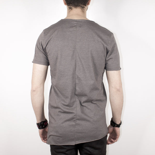BASIC SHORT SLEEVE TOP - GREY