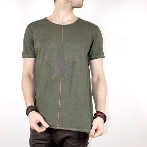 SCOOP NECK TOP - OLIVE