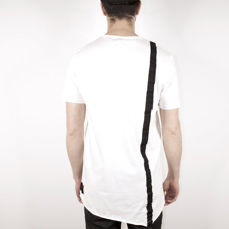 LONG BAND TOP - WHITE