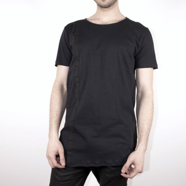 LONG BAND TOP - BLACK