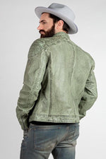 GOREY LEATHER JACKET - CELADON
