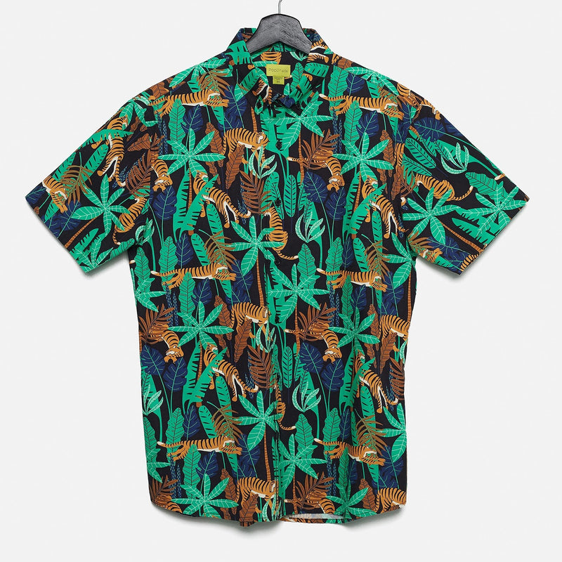 SHORT SLEEVE BUTTON UP - JUNGLE TIGER