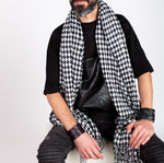 OVERSIZED SCARF - HOUNDSTOOTH