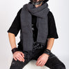 SOFT RIDGE SCARF- CHARCOAL